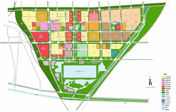 图1-2 东南湖区项目规划总平面图
